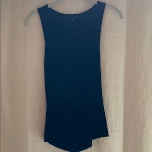 Knit tank with cutout in lower back